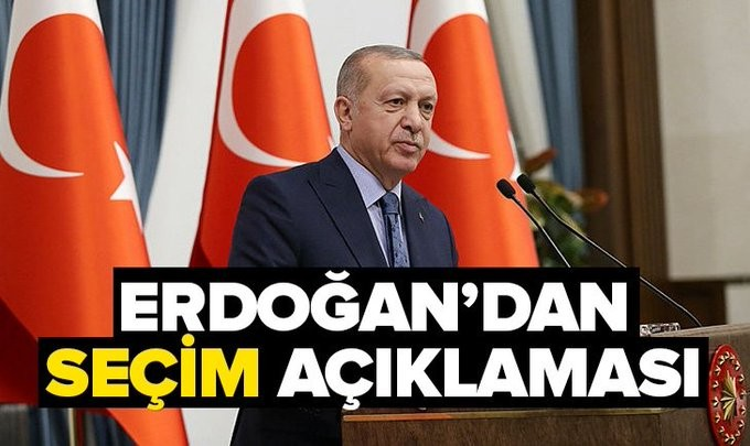 Başkan Erdoğan'dan seçim sonuçlarıyla ilgili açıklama