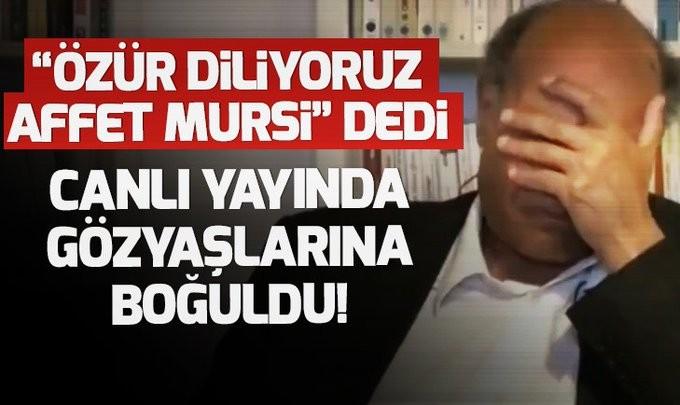 Tunus eski devlet başkanı Merzuki canlı yayında Mursi için gözyaşlarına boğuldu